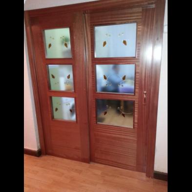 puerta doble especial para cocina puerta fija puerta corredera vidrios mod
