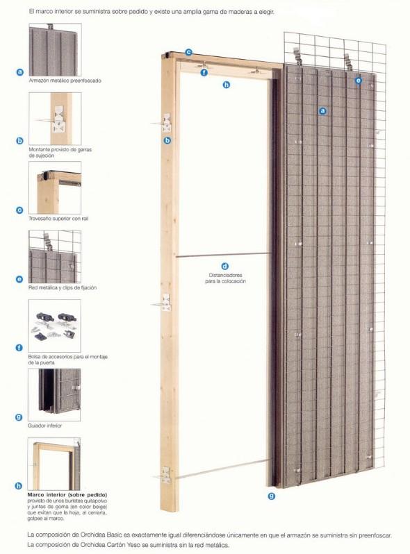 L nea corredera carpinteria en general puertas block - Puertas correderas empotradas en tabique ...